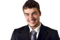 A handsome businessman  smiling. Royalty Free Stock Image