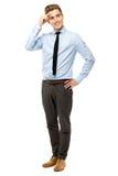 Handsome businessman smiling Stock Image
