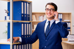 The handsome businessman speaking on mobile phone Royalty Free Stock Image