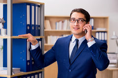 The handsome businessman speaking on mobile phone Stock Photo