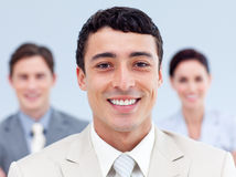 Handsome businessman standing Royalty Free Stock Photo