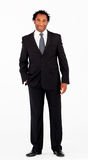 Handsome businessman standing in front of camera Stock Photos