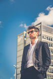 Handsome businessman with sunglasses Stock Images
