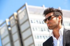 Handsome businessman with sunglasses Royalty Free Stock Photo