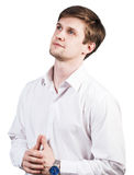 Handsome businessman thinking Stock Photos