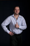 A handsome businessman with thumbs up Stock Photo