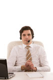 Handsome businessman wearing a headset Royalty Free Stock Photos
