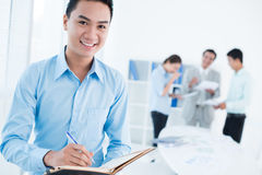 Handsome businessman at work Stock Photos