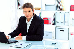 Skilled businessman Royalty Free Stock Photos
