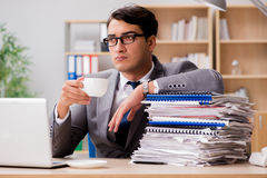 The handsome businessman working in the office. Handsome businessman working in the office Stock Image