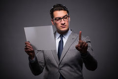 The handsome businessman working on tablet computer Stock Photo