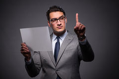 The handsome businessman working on tablet computer. Handsome businessman working on tablet computer Stock Photos