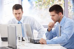 Handsome businessmen busy by working Royalty Free Stock Photo