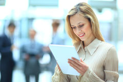 Businesswoman using his digital tablet Stock Photos