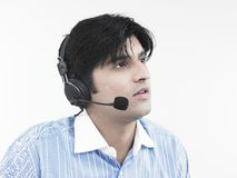 Handsome call centre executive stock images