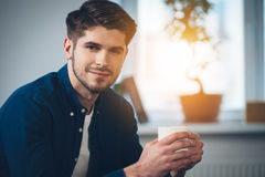 Handsome and calm. Stock Photo
