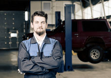 Handsome car mechanic Stock Image