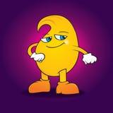 Handsome cartoon mango. Happy  and handsome cartoon mango Stock Photography