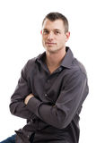 Handsome casual businessman portrait Royalty Free Stock Images