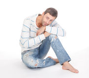 Handsome casual man Stock Photos