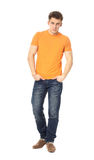 Handsome casual man isolated over a white background Stock Photo