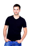 Handsome casual man smiling Royalty Free Stock Photo