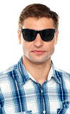 Handsome casual man wearing goggles Royalty Free Stock Photography