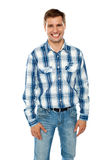 Handsome casual young guy posing Royalty Free Stock Photography