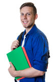Handsome caucasian male student with blonde hair royalty free stock images