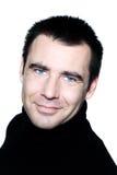 Handsome caucasian man blue eyes smiling portrait Stock Image