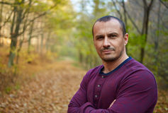 Handsome caucasian man in his 40s Royalty Free Stock Photos
