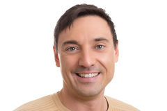 Handsome caucasian man smiling Royalty Free Stock Photography