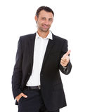 Handsome Caucasian young businessman. Royalty Free Stock Photos