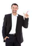 Handsome Caucasian young businessman. Stock Image