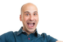 Handsome cheerful bald man Royalty Free Stock Image