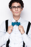 Handsome cheerful young man wearing glasses Royalty Free Stock Photo