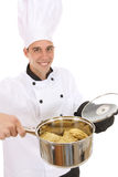 Handsome Chef Cooking Stock Photography