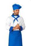 Handsome chef isolated Royalty Free Stock Image