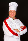 Handsome chef posing Royalty Free Stock Photos
