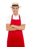 Handsome chef posing in style Royalty Free Stock Photo