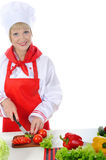 Handsome chef in uniform. Royalty Free Stock Photography