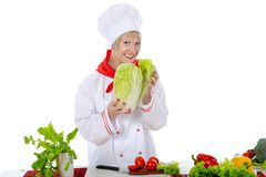 Handsome chef in uniform. Stock Photo
