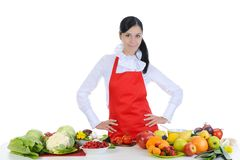 Handsome chef in uniform. Royalty Free Stock Photo