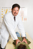 Handsome Chiropractor royalty free stock photos