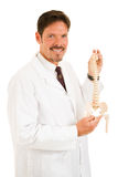 Handsome Chiropractor Isolated Stock Images