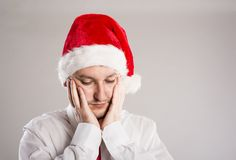 Handsome christmas man Royalty Free Stock Photography