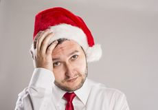 Handsome christmas man Stock Photography