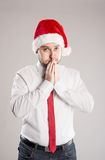 Handsome christmas man Royalty Free Stock Images