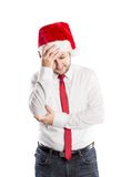 Handsome christmas man Stock Image