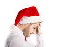 Handsome christmas man Royalty Free Stock Photo